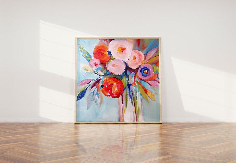 'Wild Bloom' Original Canvas