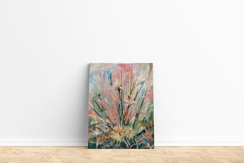 'New Wild Flowers' Original Canvas