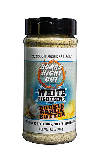 Boars Night Out - White Lightning Double Garlic Butter