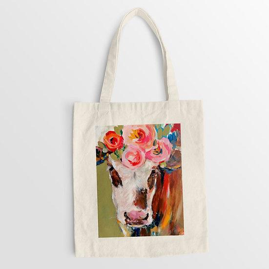 'Rosie Simmental Calf' Organic Cotton Tote Bag