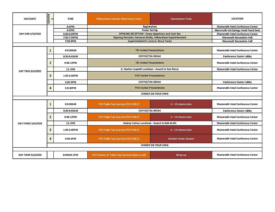 DRAFT Agenda 2020 Biennial Scientific Co