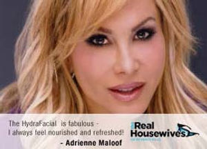 Real Housewives, skin care, Hydrafacial