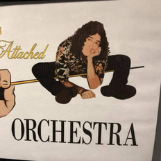 Sign for the orchestra greenroom, Weird Al Yankovic concert.