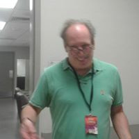 Backstage with composer Hans Zimmer.  19 local musicians were provided for the Houston leg of his tour by Fine Arts Strings.