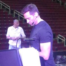 Hugh Jackman at the rehearsal.