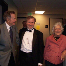 Chatting with Mr. and Mrs. Bush after a performance.