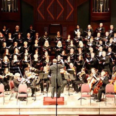 Our musicians accompanying the Houston Choral Society's Haydn concert.