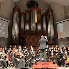Our musicians accompanying the Houston Choral Society's Mozart concert.
