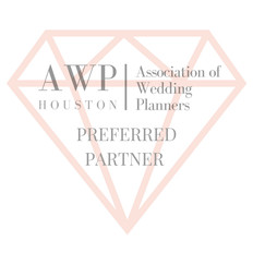 Based on our reputation of high quality, we have been named a Houston Association of Wedding Planners Diamond Preferred Partner