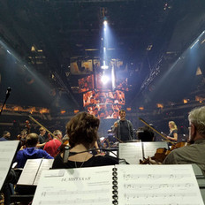 We provided 33 local players for the Houston and San Antonio legs of the Game of Thrones tour.  Here is a scene from the rehearsal with composer, Ramin Djawadi.
