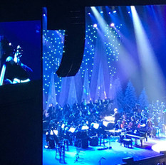 Long shot of the 56 piece orchestra that we provided to back Amy Grant.