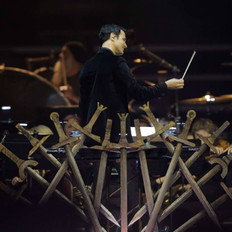 Ramin Djawadi conducts his music from Game of Thrones with 33 musicans provided by Fine Arts Strings.