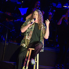 Weird Al Yankovic at the concert, orchestra provided by Fine Arts Strings.