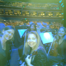 Our violin section before the Martina McBride concert.