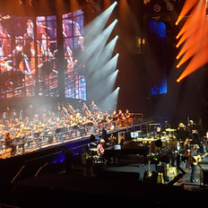 The Eagles, backed by a 38 piece orchestra provided by Fine Arts Strings
