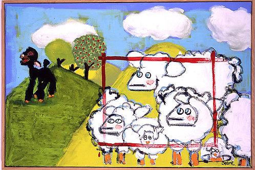 "Black Sheep 30""x40"" Canvas"