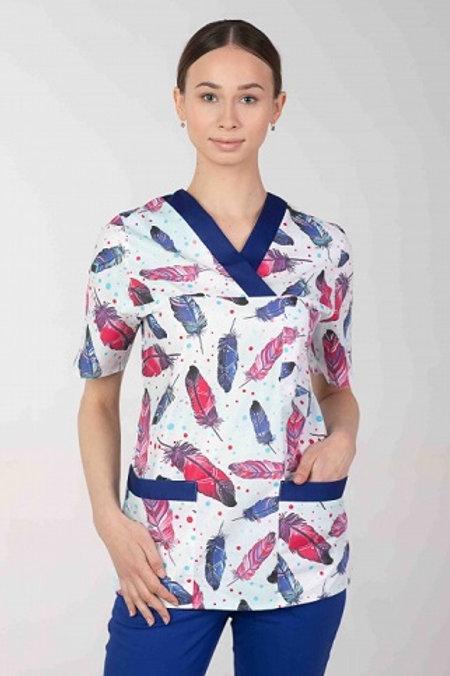 Bluza medyczna M-074G pióra