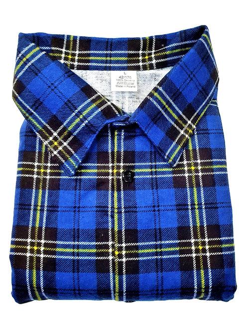 Koszula flanelowa POLSKA W KRATĘ BAWEŁNA A2