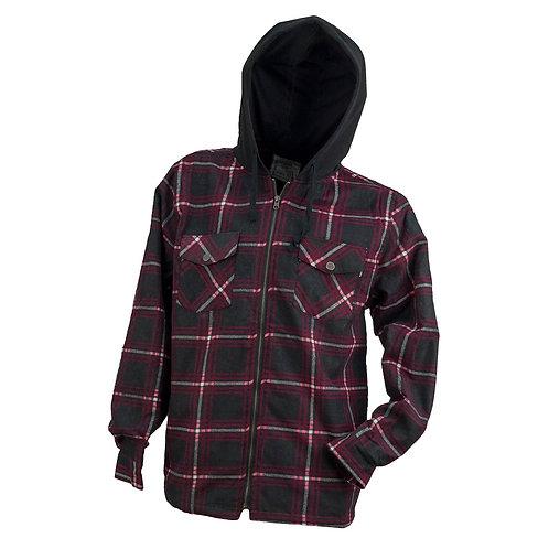 Urgent koszula flanelowa ocieplana z kapturem 130273
