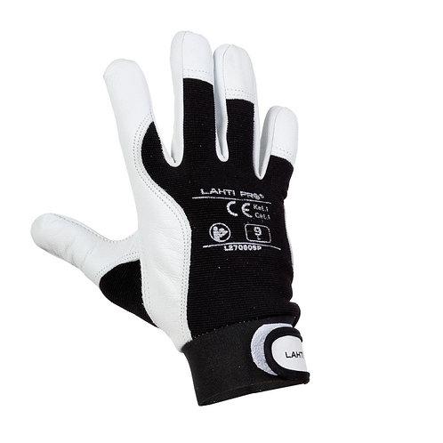 Lahti Pro rękawice ze skóry koziej czarne L2708