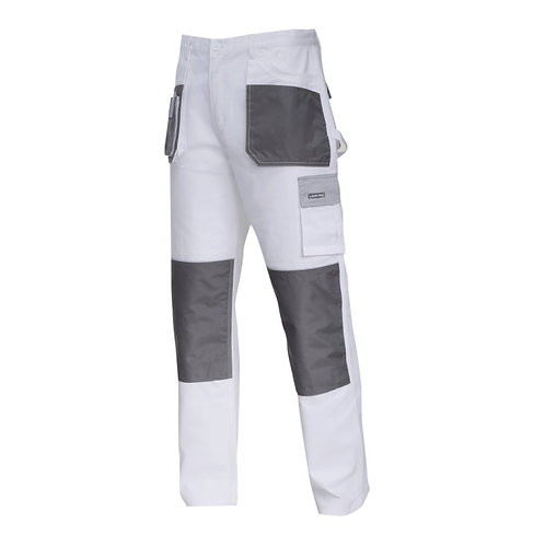 Spodnie L40513 BIAŁO-SZARE