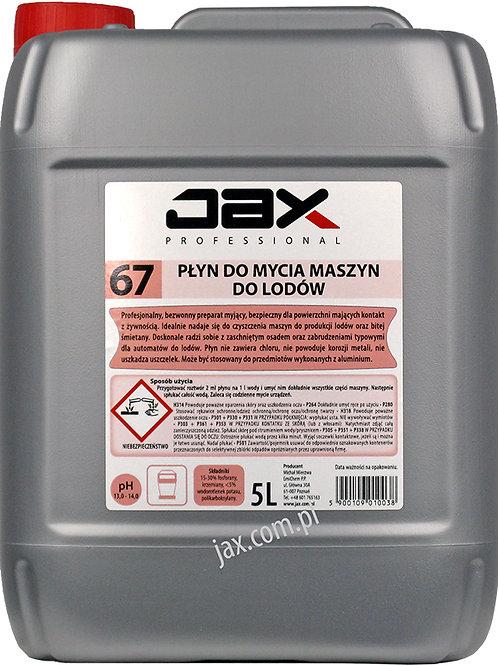 JAX PROFESSIONAL 67 - PŁYN DO MYCIA MASZYN DO LODÓW 5l