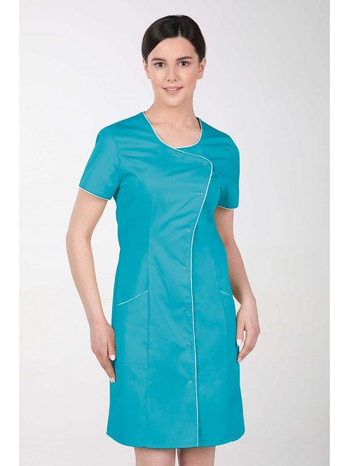 Fartuch damski sukienka TURKUSOWA M-342 MARTEX