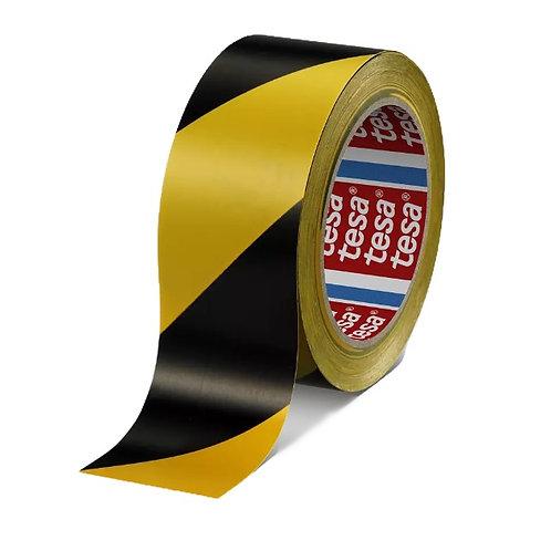 Taśma ostrzegawcza czarno-żółta TESA 33m x 50mm