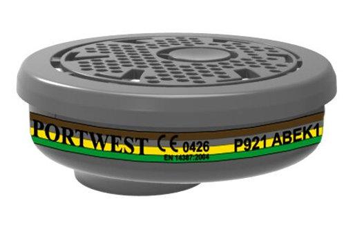 Filtr gazowy P921 EN 14387 Type ABEK 1 KOMPLET