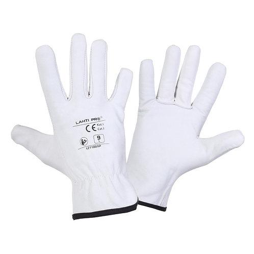 Lahti Pro rękawice ze skóry koziej białe L2710