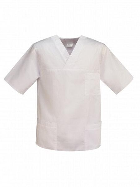Bluza medyczna męska biała M-074C