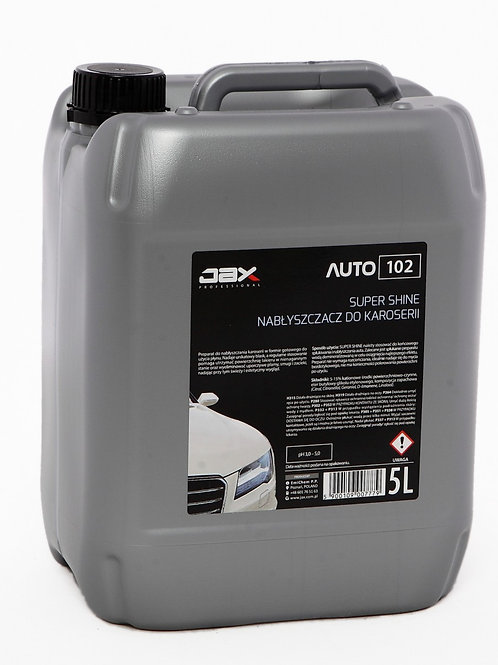 JAX PROFESSIONAL 102 - SUPER SHINE – NABŁYSZCZACZ DO KAROSERII 5l