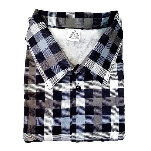 Koszula flanelowa POLSKA W KRATĘ BAWEŁNA K4