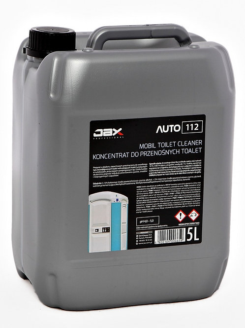 JAX PROFESSIONAL 112 - MOBIL TOILET CLEANER–KONCENTRAT DO PRZENOŚNYCH TOALET 5l