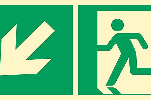 Kierunek do wyjścia w lewo, w dół PT