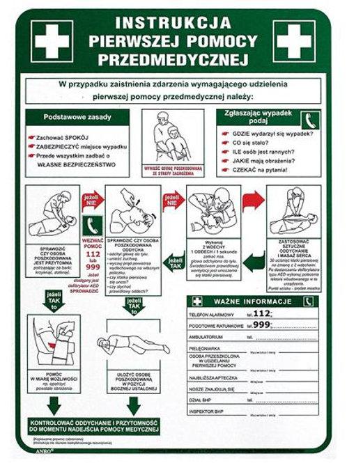 Instrukcja pierwszej pomocy przedmedycznejIB13/P