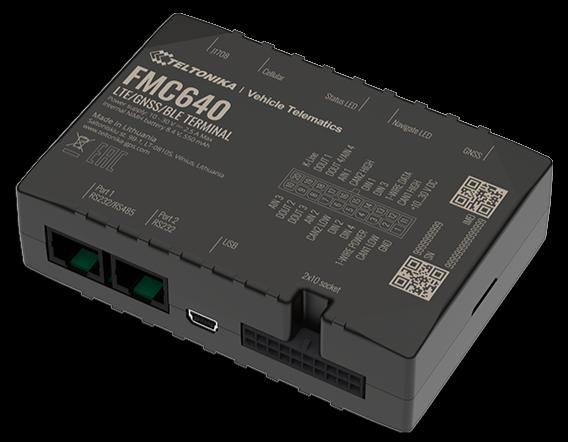 FMC640 logger can väylään 4G reititin akku