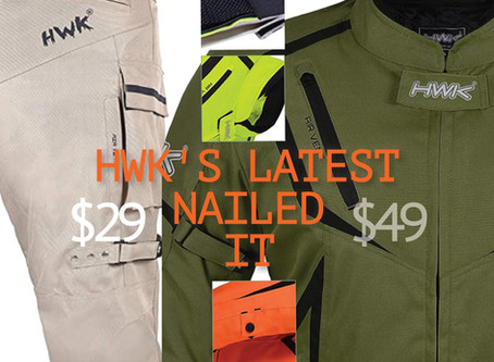 BEST PRICE Dual Sport Jacket-$49 & Riding Pants-$29~ The Latest HWK Riding Gear Nails It!