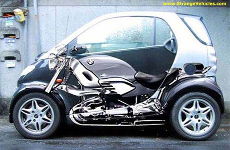 Why I Love Humans-Smart Car Motorcycle wrap-Story Moto ADV Internet Oddest Motorcycles