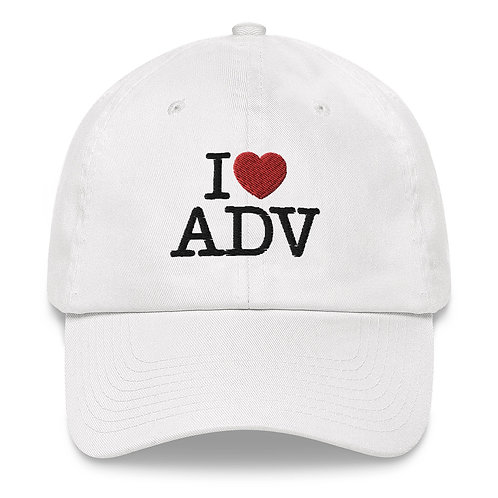 I HEART ADV    ∞    Embroidered Classic Dad hat