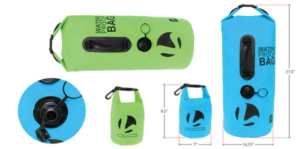 LISH 30L Floating Waterproof Dry Bag - Roll Top Backpack Sack with Bonus 1.5L Pouch