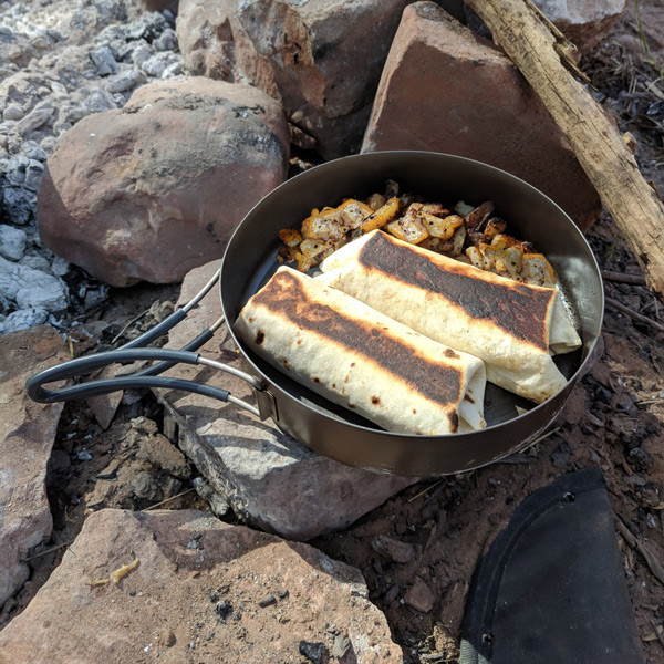 Story Moto ADV cooking with EVERNEW Titanium DX 4
