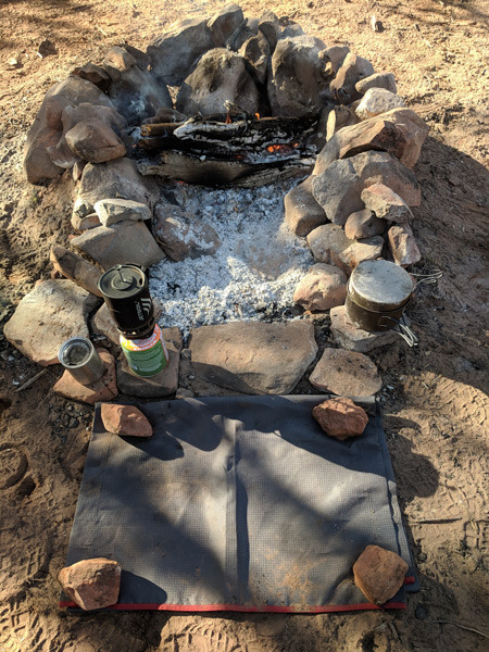 Moto Camping Fire Pit for Hikers and ADV Riders