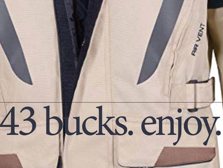 Can This ADVENTURE TOURING JACKET Possibly Be What They Say It Is At $43?  ≈ YES, Here's Why...