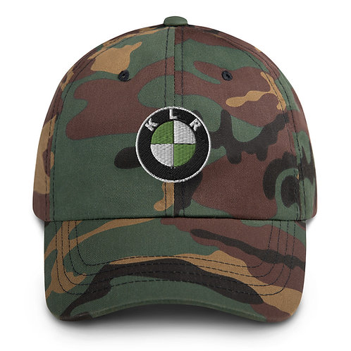 KLR... 6TH GEAR THIS   ∞   Embroidered Camo Dad hat