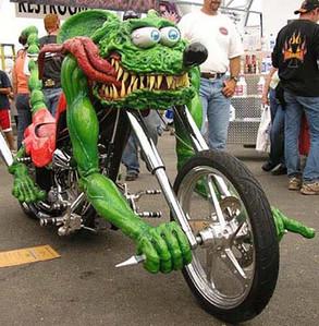 Wasting Motorcycles Level Spaz-custom motorcycle-Story Moto ADV Internet Oddest Motorcycles
