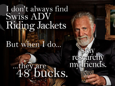 Want a $48 SWISS ADV MOTORCYCLE JACKET (Award Winning) distributed from USA? here ya go...