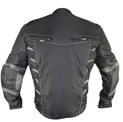 Exlement MORPH motorcycle riding jacket rear view