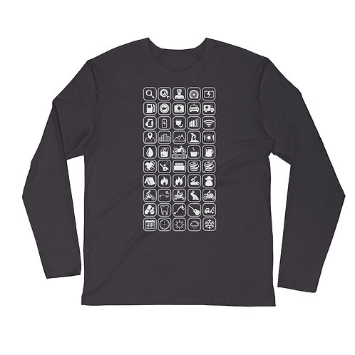MOTO MOUTH   ∞   Long Sleeve Fitted Crew