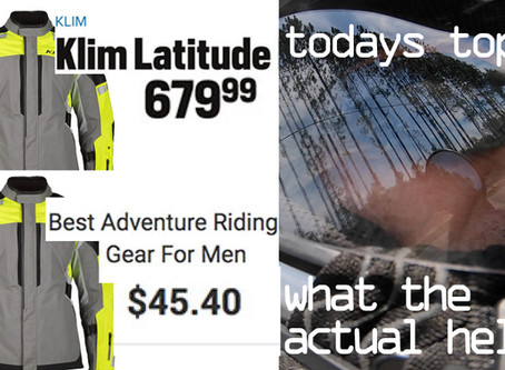 HOODWINKED! The Adventure Riding Gear Market: A LIAR is Among Us